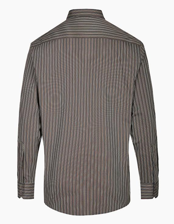 Bernd Berger Streifenhemd mit paspelierter Brusttasche, MODERN FIT | ADLER Mode Onlineshop