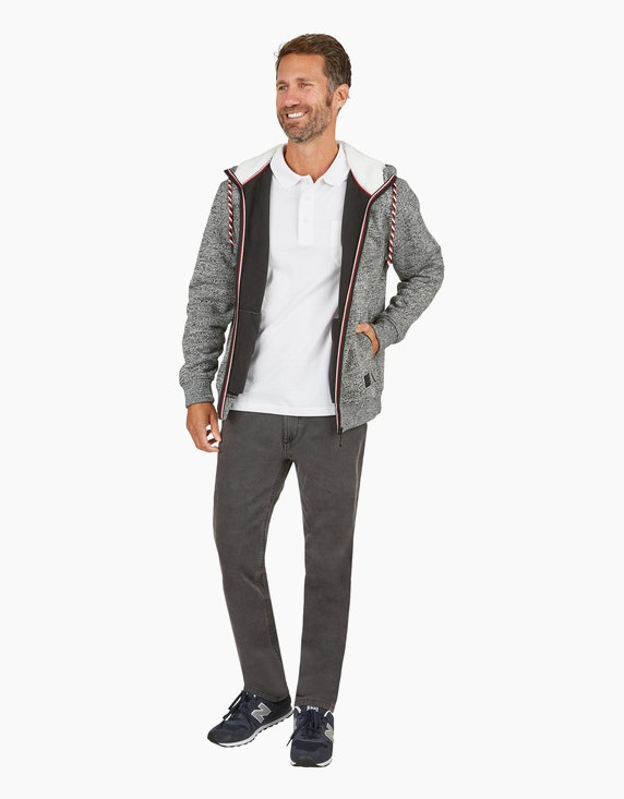 Bexleys man Troyer unifarben mit Stickerei in Dunkelblau | ADLER Mode Onlineshop