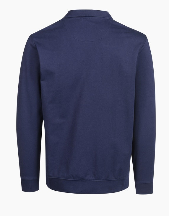 Bexleys man Polo-Sweatshirt unifarben | ADLER Mode Onlineshop