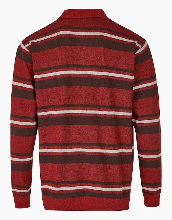 Bexleys man Gestreiftes Polo-Sweatshirt mit Brusttasche | ADLER Mode Onlineshop