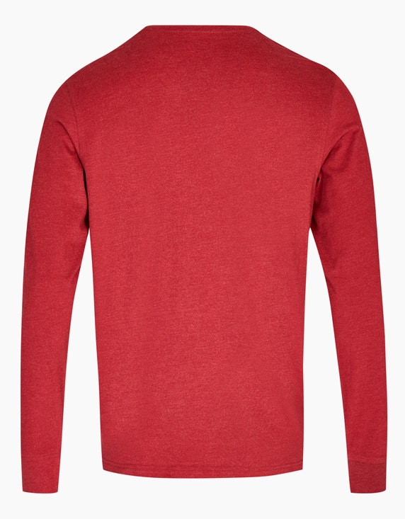 Bexleys man Langarmshirt mit Samt-Print | ADLER Mode Onlineshop