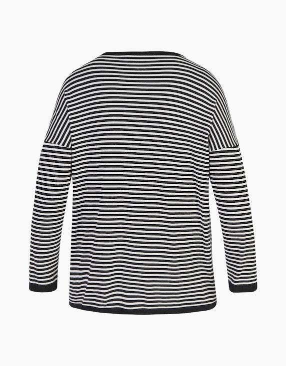 No Secret Gestreiftes Langarmshirt mit überschnittenen Ärmeln | ADLER Mode Onlineshop