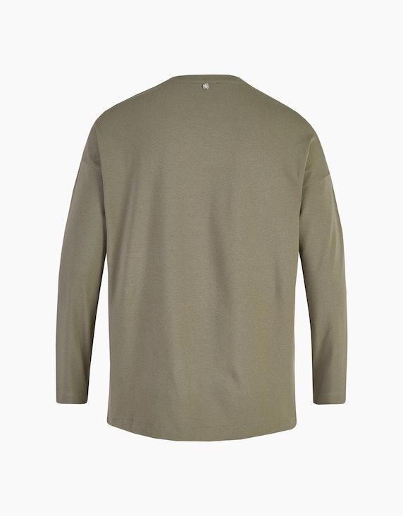 No Secret Langarmshirt mit Frontprint und Zierknöpfen | ADLER Mode Onlineshop