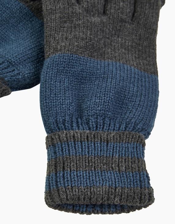 Bexleys man Strickhandschuhe zweifarbig | ADLER Mode Onlineshop