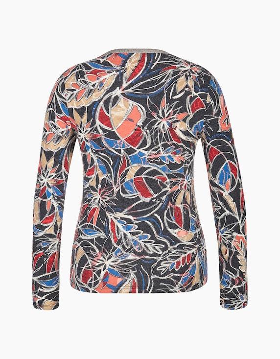 Bexleys woman Langarmshirt mit Glitzer-Ausschnitt   ADLER Mode Onlineshop