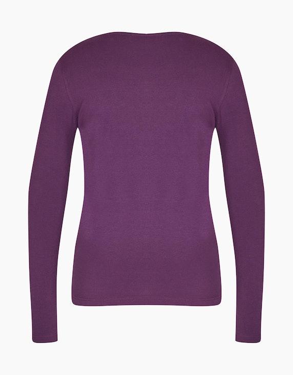 Bexleys woman Basic Langarmshirt mit Strassbesatz   ADLER Mode Onlineshop