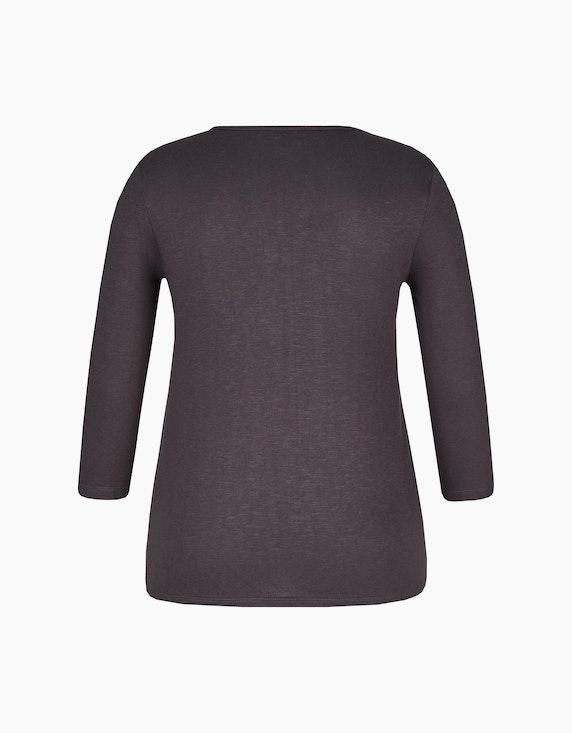 Bexleys woman Shirt mit Chiffon-Lage und 3/4-Arm | ADLER Mode Onlineshop