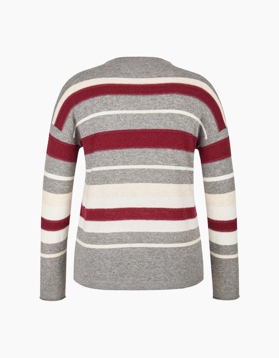 Bexleys woman Pullover mit Kaminkragen und Streifen | ADLER Mode Onlineshop