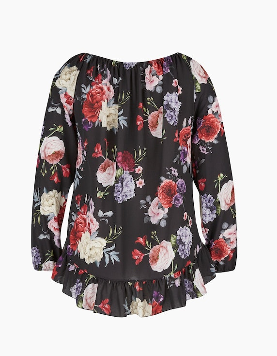 MY OWN Bluse mit Volant aus Polyester-Crepe | ADLER Mode Onlineshop