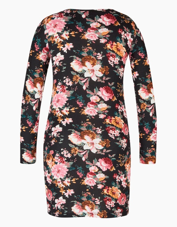MY OWN Blumiges Jerseykleid mit Reißverschluss   ADLER Mode Onlineshop