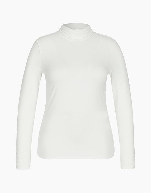 MY OWN Basic-Shirt mit Rollkragen in Offwhite | ADLER Mode Onlineshop