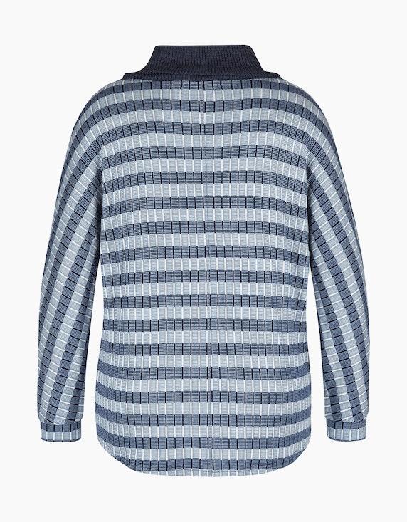MY OWN Gemusterter Rollkragen-Pullover | ADLER Mode Onlineshop