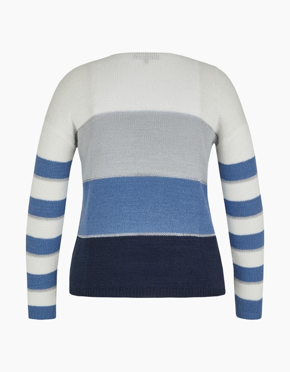MY OWN Streifen-Pullover mit Silber-Effekt   ADLER Mode Onlineshop