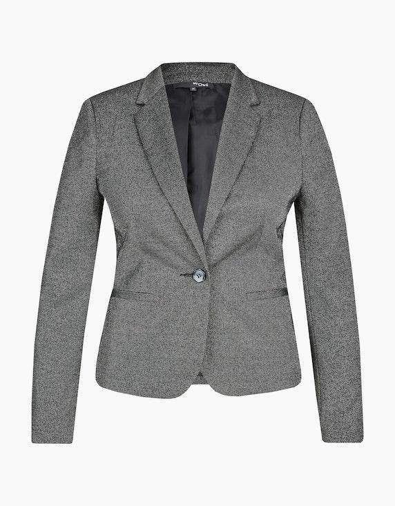 MY OWN Blazer mit Glanzeffekt und Reverskragen in Schwarz/Silber   ADLER Mode Onlineshop