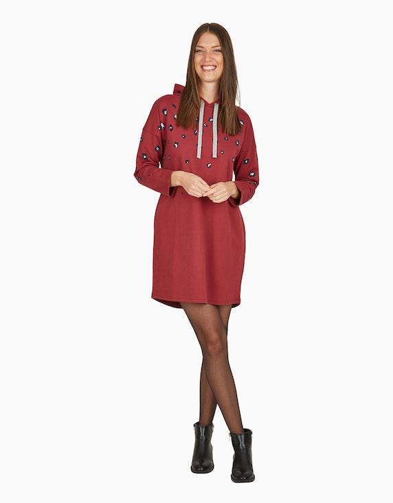 MY OWN Flauschiges Kleid mit Allover-Print in Silbergrau/Bordeaux/Blau | ADLER Mode Onlineshop