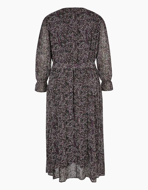 MY OWN Langes Chiffon-Kleid mit Volant und Bindegürtel | ADLER Mode Onlineshop