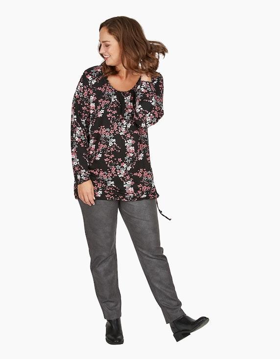 Thea Shirt mit Blumen-Muster und Babylock-Stiching   ADLER Mode Onlineshop