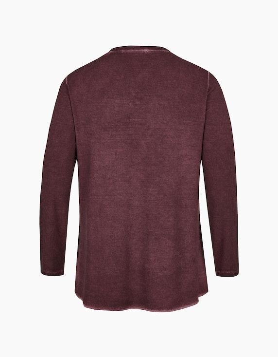 Thea Shirt mit Spitze und Paillettenbesatz, Oil-Dyed-Optik | ADLER Mode Onlineshop