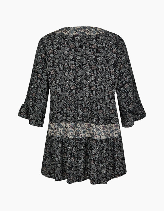 Thea Tunika-Bluse mit Paisley-Blumenmuster, reine Viskose | ADLER Mode Onlineshop