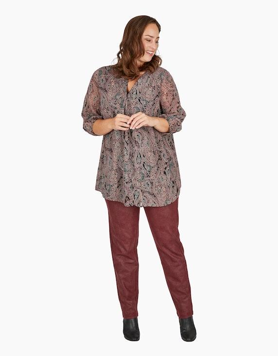 Thea Jersey-Leggings in Velour-Lederimitat-Optik | ADLER Mode Onlineshop