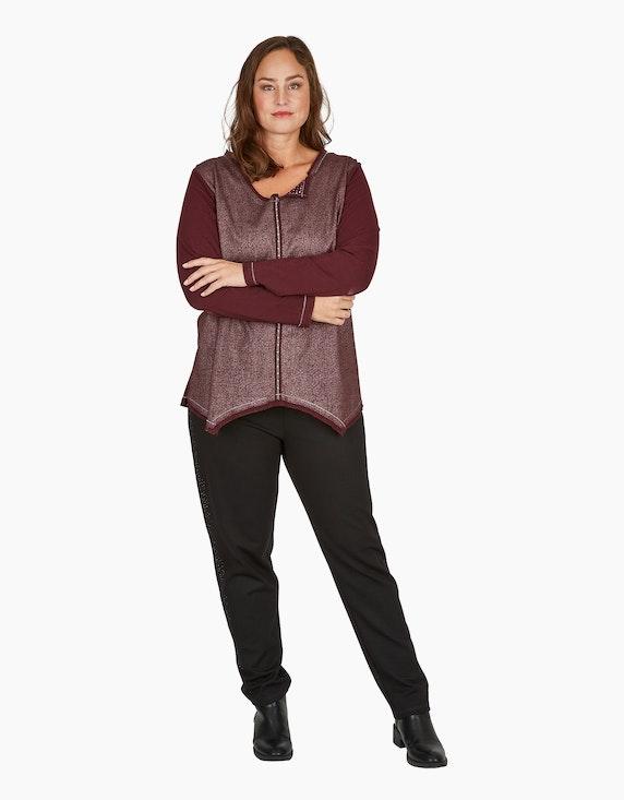 Thea Basic-Jersey-Leggings mit Ziersteinen | ADLER Mode Onlineshop