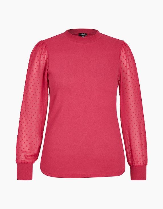 Viventy Shirt mit Chiffon-Puffärmeln in Rot | ADLER Mode Onlineshop