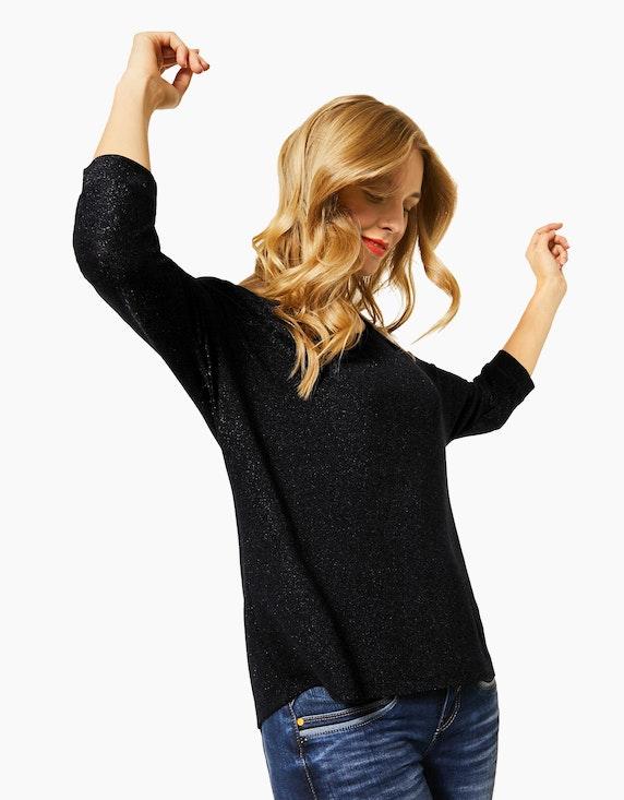 Street One Fledermaus-Shirt mit Glitzer | ADLER Mode Onlineshop