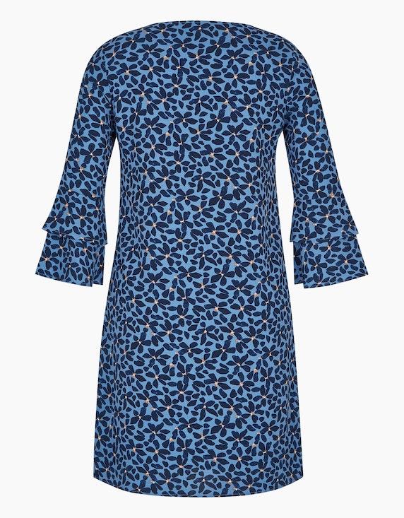 Viventy Kleid mit blumigem Alloverprint und Trompetenärmeln | ADLER Mode Onlineshop