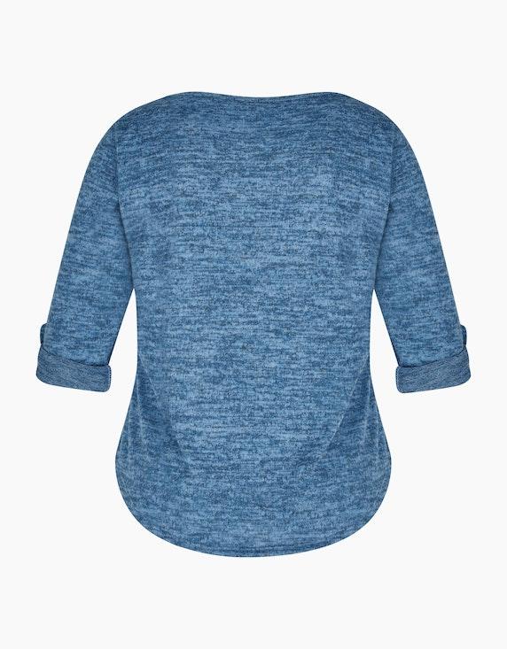Via Cortesa Feinstrick-Shirt mit Rosendruck in Melange-Optik | ADLER Mode Onlineshop