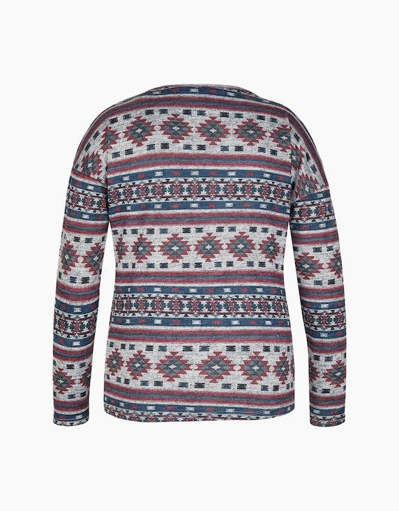 Via Cortesa Feinstrick-Shirt mit Azteken-Streifen-Muster | ADLER Mode Onlineshop