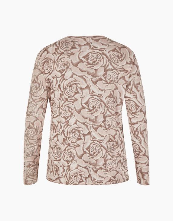 Thea Feinstrick-Shirt  mit Rosen-Druck | ADLER Mode Onlineshop