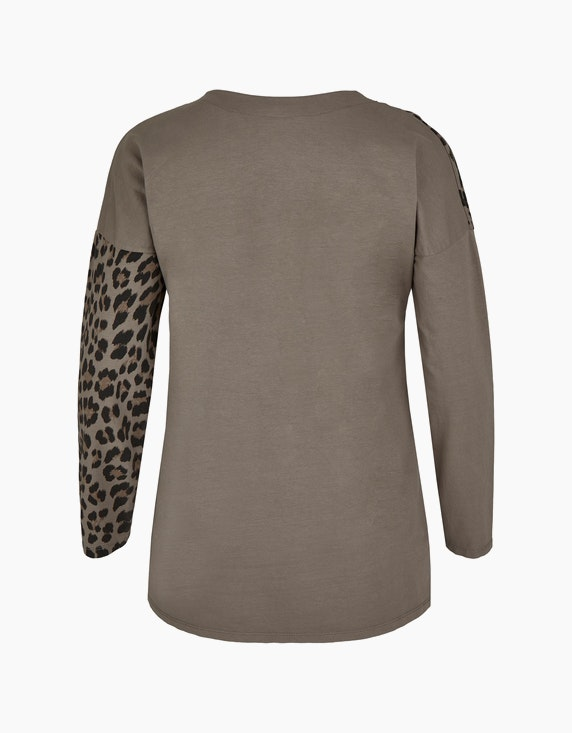 Thea Shirt im Muster-Mix mit Leo-Print | ADLER Mode Onlineshop