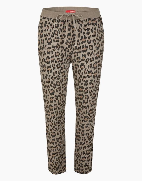 Thea Joggpants im Leo-Look, Baumwoll-Stretch | ADLER Mode Onlineshop