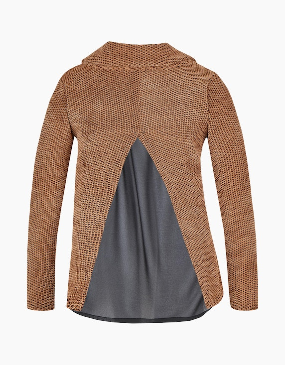 MY OWN Boucle-Pullover mit Rollkragen, 2-in-1-Optik | ADLER Mode Onlineshop