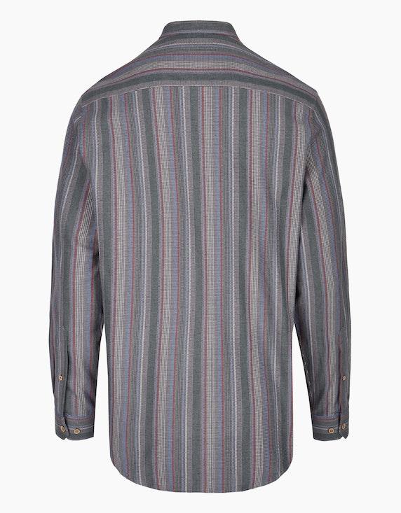 Bexleys man Flanellhemd gestreift mit Stehkragen, REGULAR FIT   ADLER Mode Onlineshop