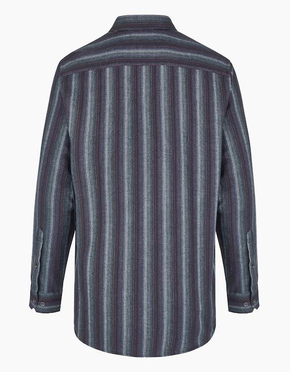 Bexleys man Hemd in Flanell im gestreiften Dessin, REGULAR FIT | ADLER Mode Onlineshop