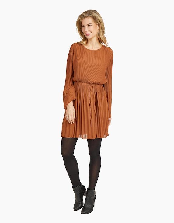 Made in Italy Plissee-Kleid mit Bindeband | ADLER Mode Onlineshop