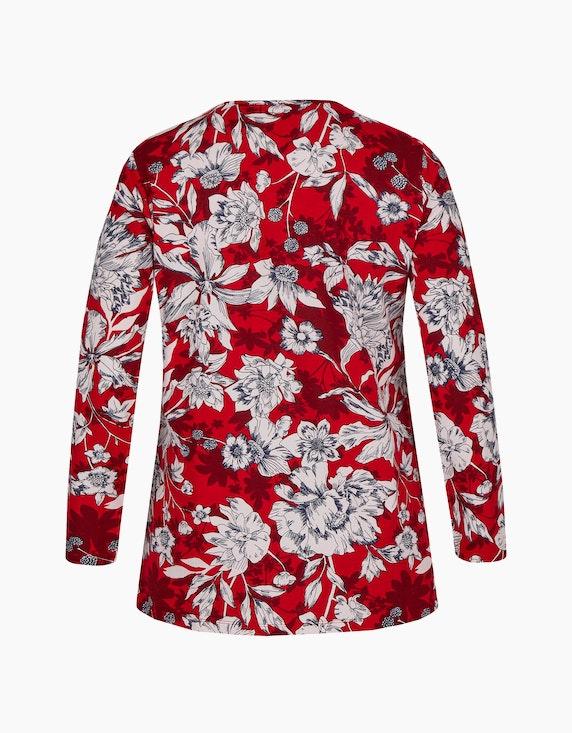 Thea Shirt mit floralem Muster, reine Baumwolle | ADLER Mode Onlineshop