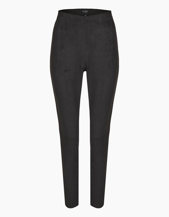 Bexleys woman Leggings in Wildleder-Optik in Schwarz | ADLER Mode Onlineshop