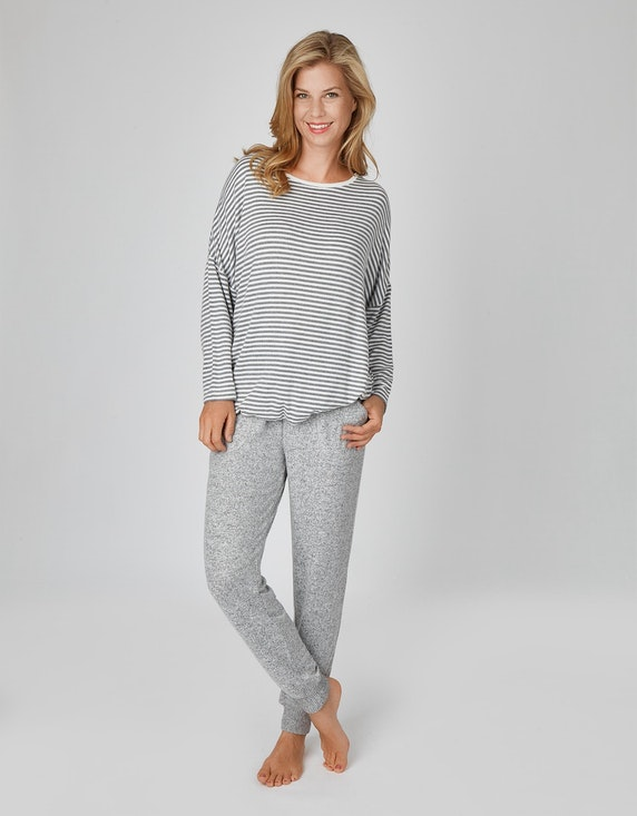 Bexleys woman Gestreiftes Loungewear-Oberteil | ADLER Mode Onlineshop