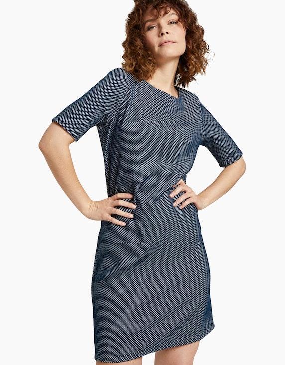Tom Tailor Strukturiertes T-Shirt Kleid | ADLER Mode Onlineshop