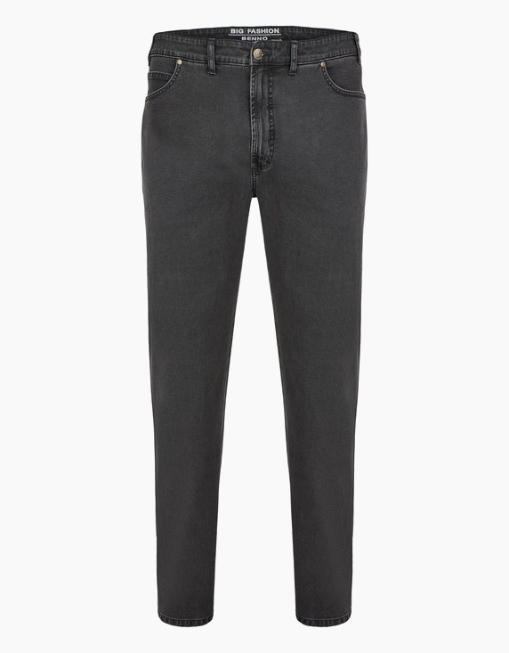 Big Fashion Basic 5-Pocket Jeans in Grau | ADLER Mode Onlineshop