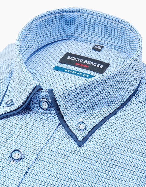 Bernd Berger Dresshemd, langarm, gemustert, REGULAR FIT   ADLER Mode Onlineshop