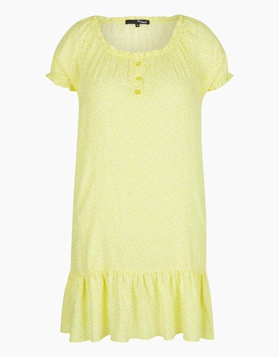 MY OWN Kleid mit Millefleurs-Muster in Gelb/Weiß/Braun | ADLER Mode Onlineshop
