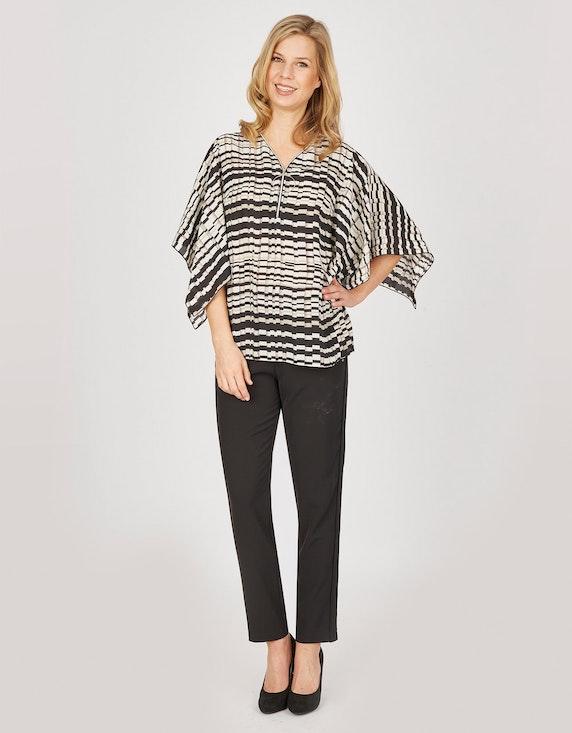 Bexleys woman Bluse mit Streifenmuster und Plissee   ADLER Mode Onlineshop