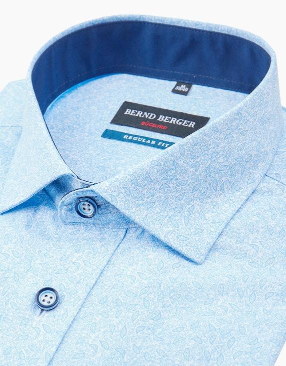 Bernd Berger Dresshemd, kurzarm, bedruckt, REGULAR FIT   ADLER Mode Onlineshop