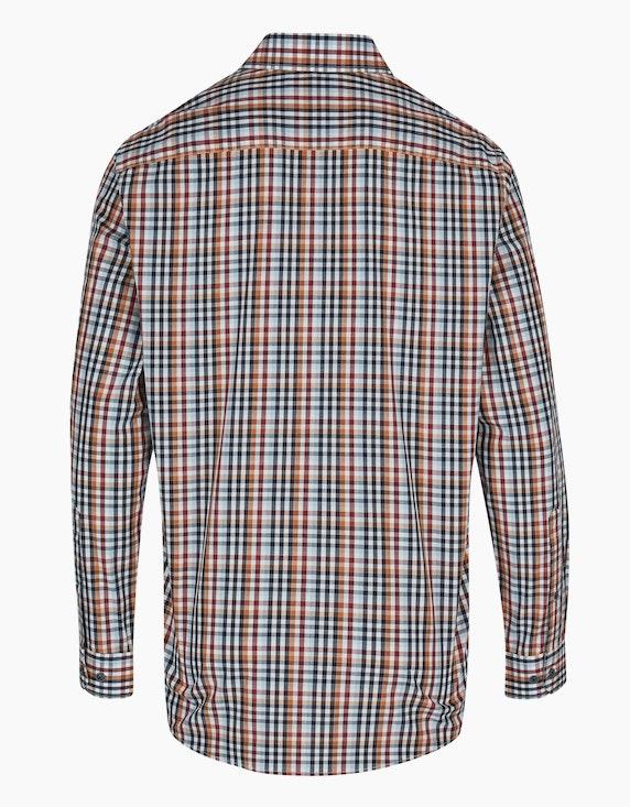 Bexleys man Kariertes Freizeithemd mit Bruststickerei, REGULAR FIT | ADLER Mode Onlineshop