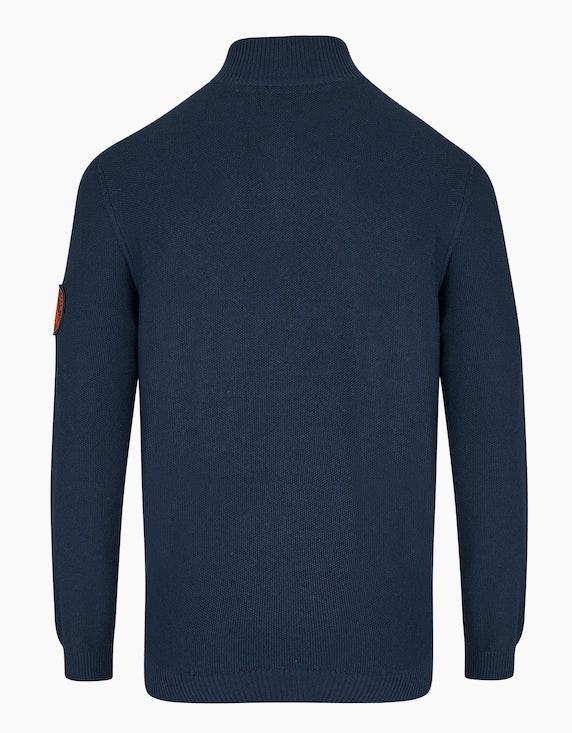 Bexleys man Unifarbene Strickjacke | ADLER Mode Onlineshop