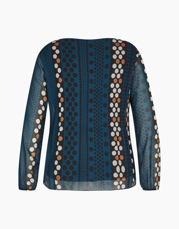 Made in Italy Plissee-Bluse mit Allover-Print | ADLER Mode Onlineshop