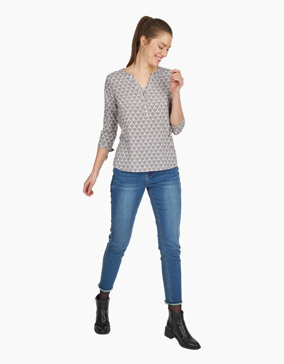 Via Cortesa Blusen-Shirt mit Allover-Print, reine Viskose | ADLER Mode Onlineshop